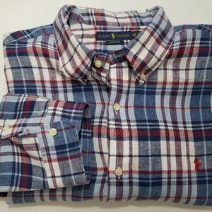 Ralph Lauren Mens Linen Golf Polo Shirt XXL
